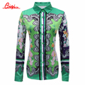 Qiqi nova outono senhoras blusas de manga longa das mulheres do vintage imprimir tops chiffon mulheres blusa clothing blusas femininas plus size