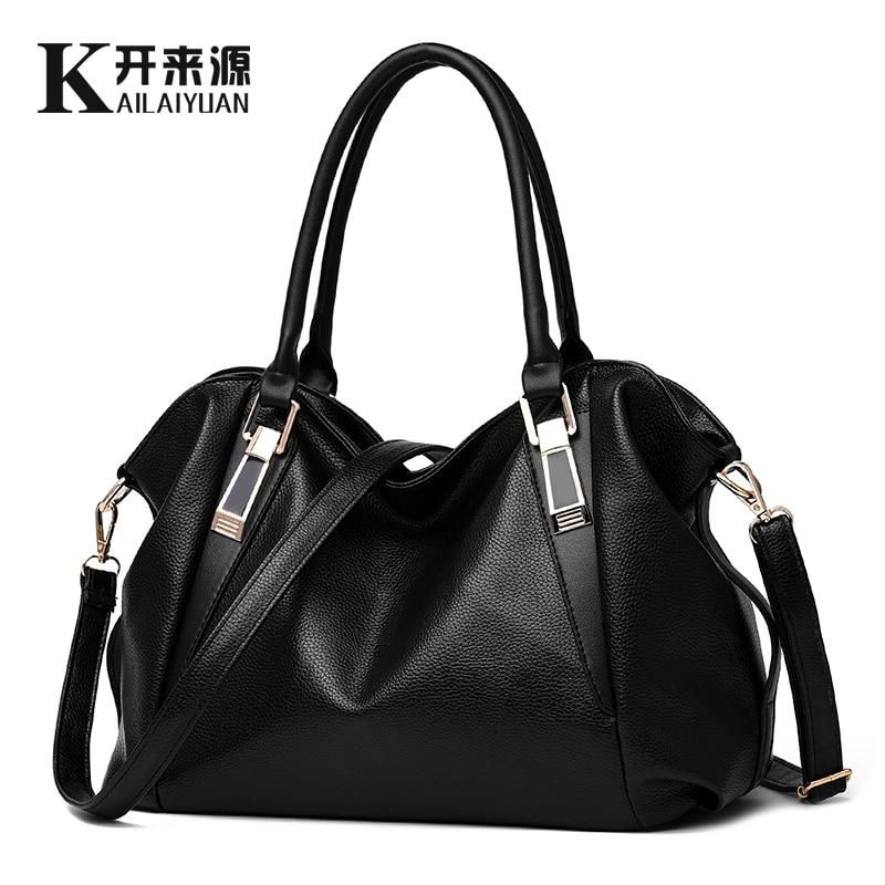 KLY 100% Véritable cuir Femmes sac à main 2018 New Classic mode casual femelle Croix main sac de projet de loi de connaissement messenger sac