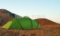 3F Gear High Quality 15D 3 Season Tunnel Professional Silicon PU Coating 2 Layer Camping Tent