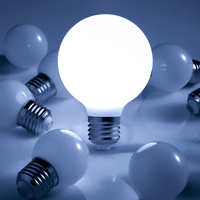 110-220 В E27 G45, G60, G80, G95, G125 3 Вт/6 Вт/9 Вт светодиодный молочно-белый свет лампы комод объектив СВЕТОДИОДНЫЙ лампы свадебные световые украшения ист...