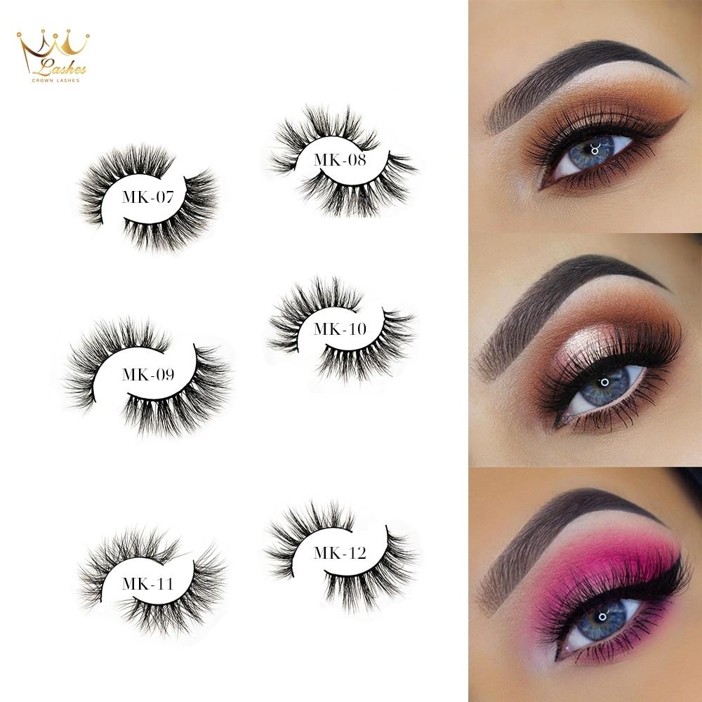 False Eyelashes Crown Lashes 3d Mink Eyelashes Vendor Eyelash Packaging Box Custom Logo False Eyelash Clear And Distinctive Beauty & Health