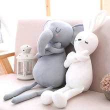 50CM baby soothing elephant figurine rabbit wool knit plush toy pillow sofa cushion for gifts