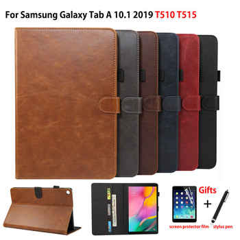 Luxury Case For Samsung Galaxy Tab A 10.1 2019 T510 T515 SM-T510 Cover Funda Tablet PU Leather Stand Shell Capa +Film+Pen - DISCOUNT ITEM  27 OFF Computer & Office
