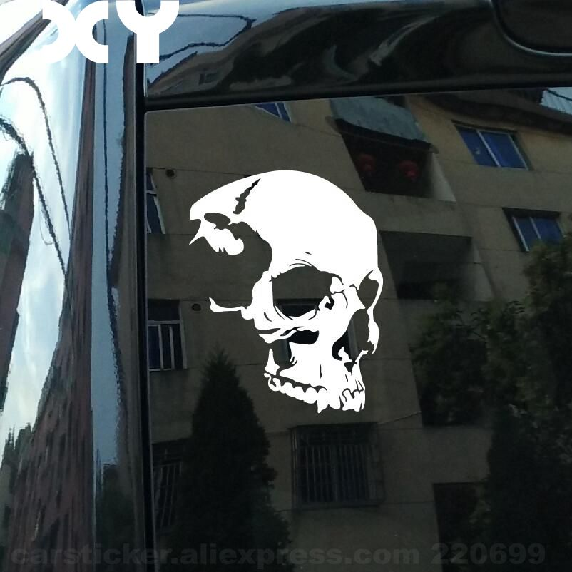 Cool Skull Jdm Decal Truck Bumper Window Car Sticker Truck Vinyl Decal 7 * 5.5 Funny Vinyl Stickers Reflective Type