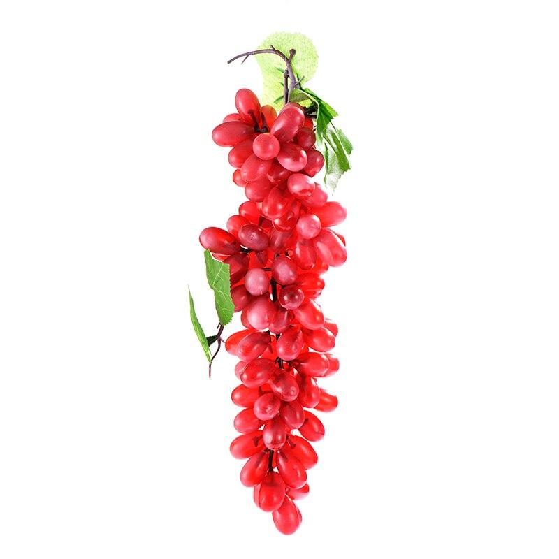 Simulation Fruits PU 110 Grain Grapes Kitchen Toys for Children Kids Pretend Play Toys Home Wedding Party Garden Decor