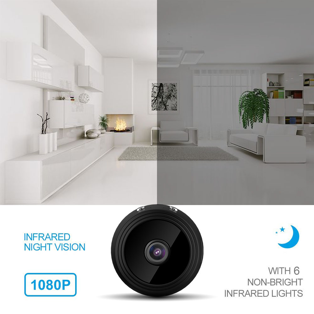 HD 1080P Mini WIFI Wireless IP Camera Night Vision Motion Detect Mini Camcorder Loop Video Recorder baybe Cam in Surveillance Cameras from Security Protection