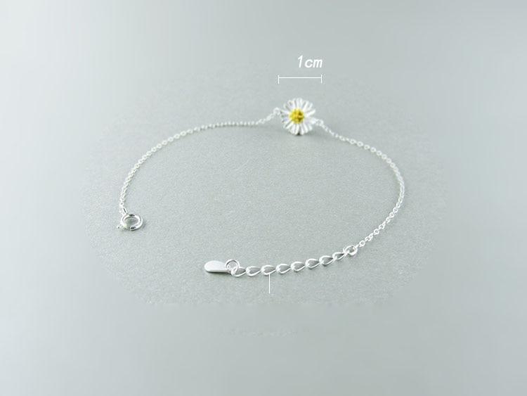 AKOLION Silver Cherry Blossoms Bracelets Charm Flower Bracelets 925 Sterling Jewelry For Girl Women 20