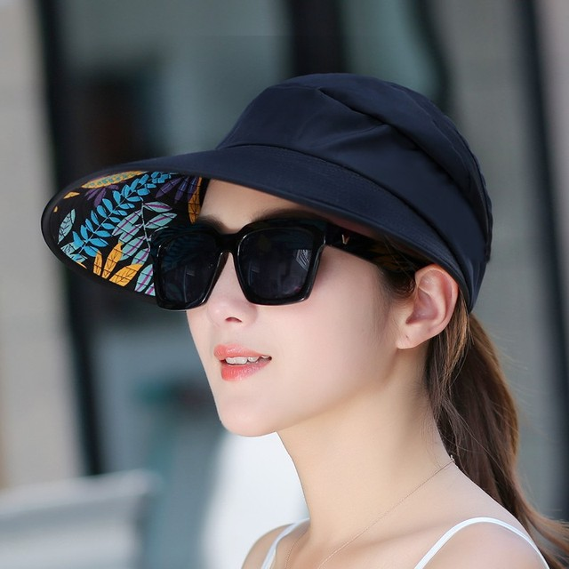 New Arrival Summer Autumn Women Sun Hats Sun Visor Hat For Women With Big  Heads Beach Hat UV Protection d2ecff14185