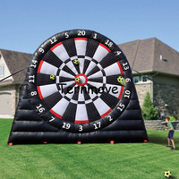 Giant Inflatable Football Dart ,Inflatable Shooting Wall For Sale,Inflatable Target Football Wall Free a Pump