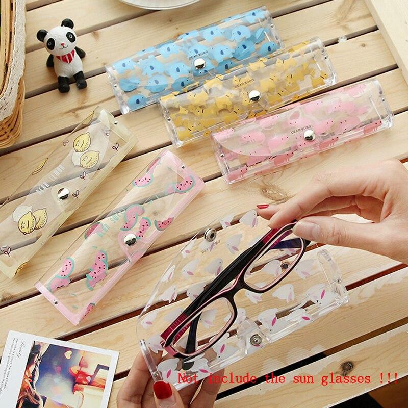 1 X Schöne Cartoon Tiere Pvc Gläser Box Nette Transparente Gläser Fall Protable Brillen Boxen Weihnachten Geschenk Für Mädchen