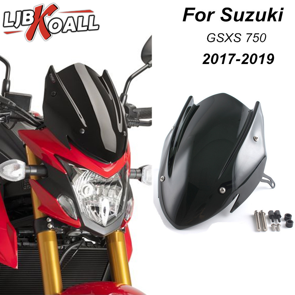 For Suzuki GSX-S750 GSXS750 GSXS 750 2017 2018 2019 Windscreen Windshield Shield Screen With Bracket Motorcycle Accessories