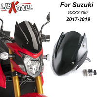 For Suzuki GSX S750 GSXS750 GSXS 750 2017 2018 2019 Windscreen Windshield Shield Screen with Bracket Motorcycle Accessories
