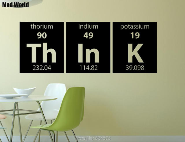 Mad world periodic table think elements wall art stickers wall mad world periodic table think elements wall art stickers wall decal home diy decoration removable urtaz Images