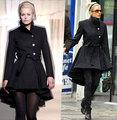 UK  Brand New 2017 Fall / Winter Women Classic Simple Stand Collar Wool Coat Dovetail Long Outerwear doudoune Manteau femme