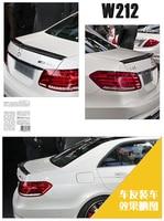 Fit for Mercedes Benz W212 E200 E260 E300L E63 AMG carbon fiber rear auto spoiler Wing rear wing high quality