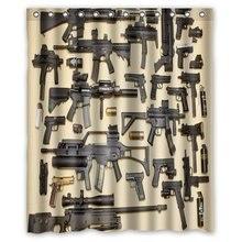 CHARMHOME Custom Firearms Guns Shower Curtain Stylish Waterproof Polyester Fabric Bathroom DecoChina