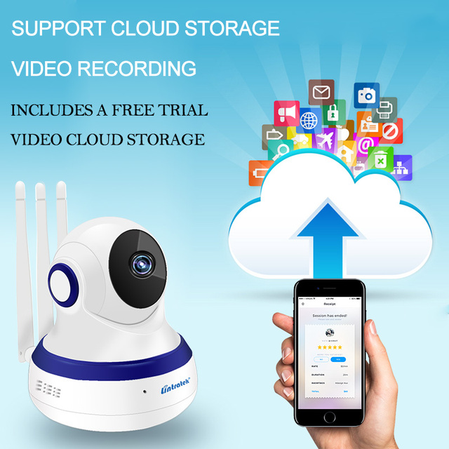 lintratek hd 1080P IP Camera WIFI 2.0MP CCTV Video Surveillance P2P Home Security Three Antennas Cloud Storage WiFi Baby Monitor