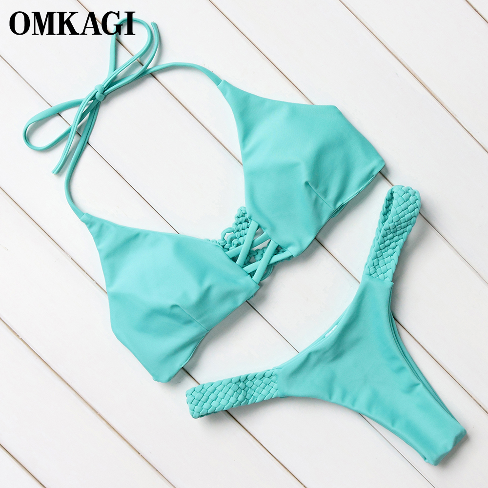 OMKAGI Brazilian Bikini 2018 Swimsuit Swimwear Women Micro Bikinis Set Sexy Push Up Female Swimming Bathing Suit Beachwear 4