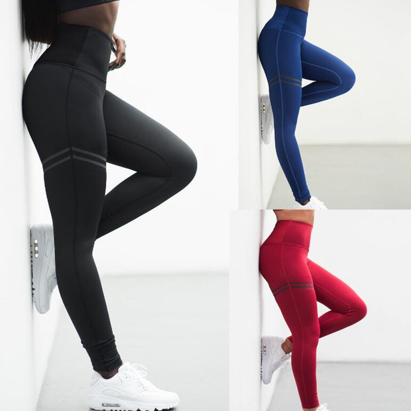 leggings women Hot style European and American new double ring printed bottom pants with high waist-high waist leggings tayt
