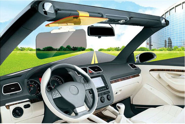 WISE TRAVEL 2pcs Car Auto Dazzling Goggle Day and Night Vision Mirror Sun Visors Free Shipping
