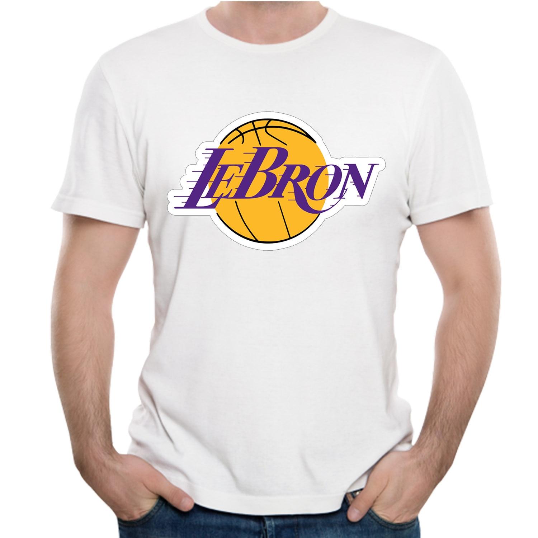 33867dc8ddaa Novelty Lebron James Lakers T Shirt 23 James Man Round Collar Stylish 3D  Print T Shirt ...
