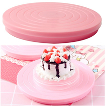 1Pc Cake Decorating Tools Food Grade Material Turntables Rotating Anti-skid Flexible Round Stand Baking Rotary Table