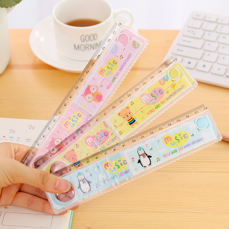 Labyrinth Ruler Puzzle Multi Function To Improve Learning Fun With A Magnifying Glass 20cm Wave Ruler