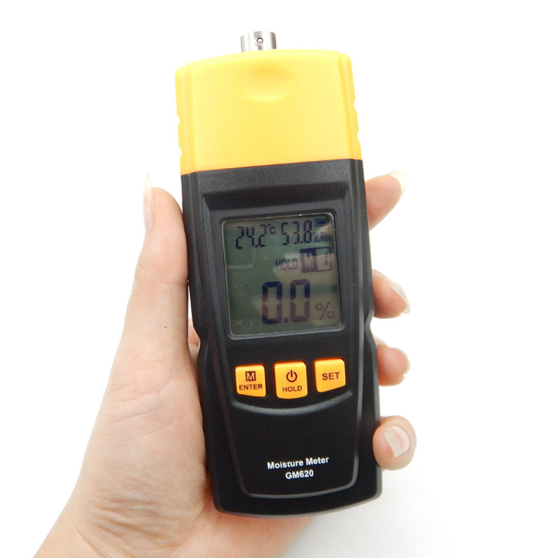 High Quality Digital LCD Display Wood Moisture Tester GM620 Portable Moisture Meter 2~70% Humidity Tester Timber Damp Detector
