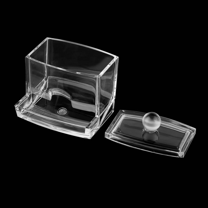 New Clear Acrylic Cotton Swab Q Tip Storage Holder Box Cosmetic Makeup Case  Hot Storage Holder Home Storage Box  In Storage Boxes U0026 Bins From Home U0026  Garden ...