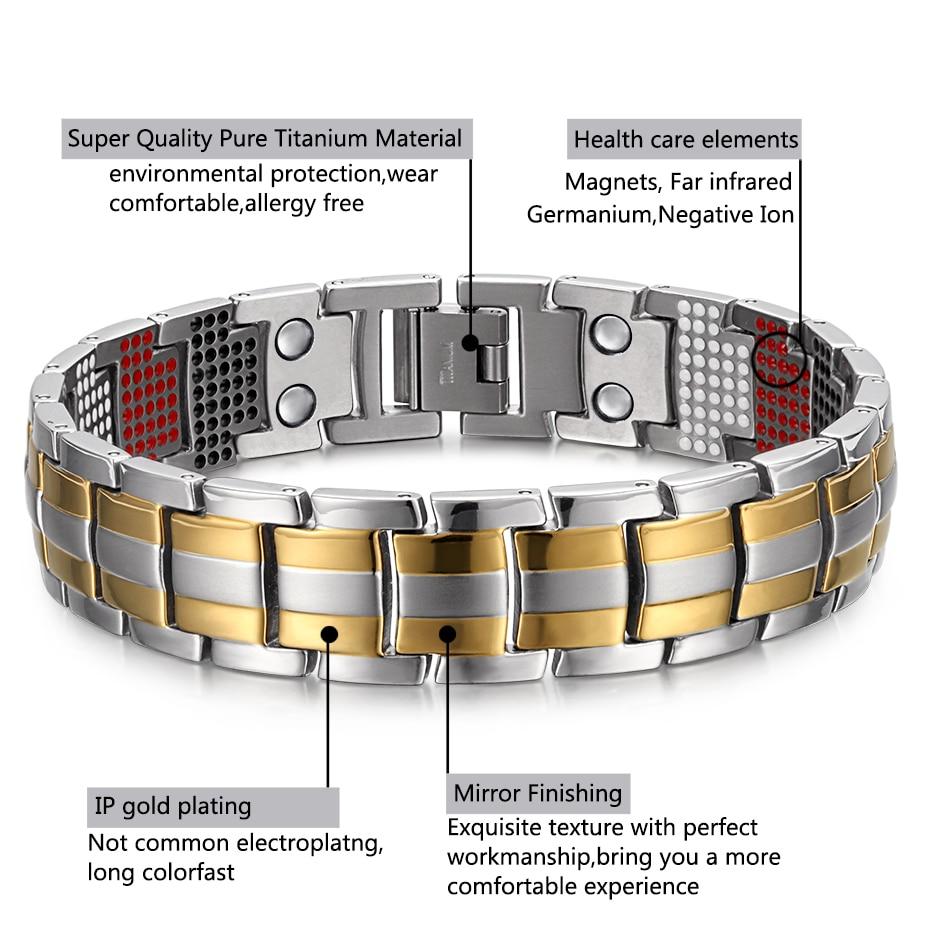 silver goldTitanium Bracelets  (3)
