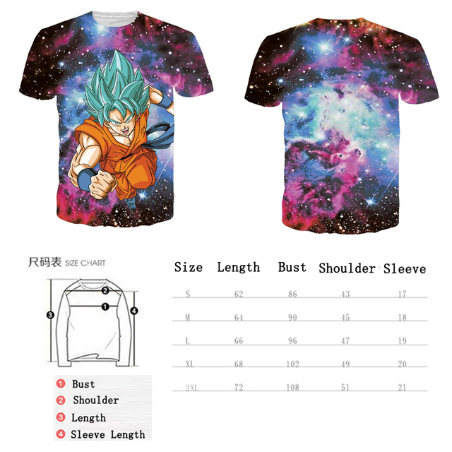 3D Goku/Vegeta Printed Tees Tops T-shirt Mens Tshirts Anime Dragon Ball T shirts Super Saiyan Men Casual Tee Shirts,YK UNCLE