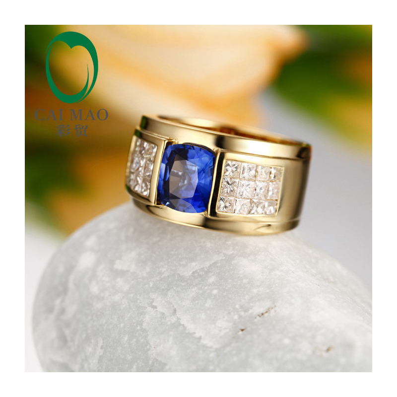 solid white ctw image mens natural gold diamond and ring tanzanite