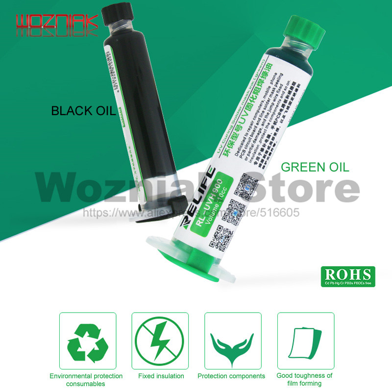 Environmental Protection Type Insulation UV Solidified Solder Resist Green Oil Welded Green Oil Circuit Board