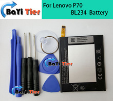 For Lenovo P70 Battery High Quality 100% New BL234 4000mAh Li-ion Battery Replacement for Lenovo P70 P70t P70-T phone + Tools