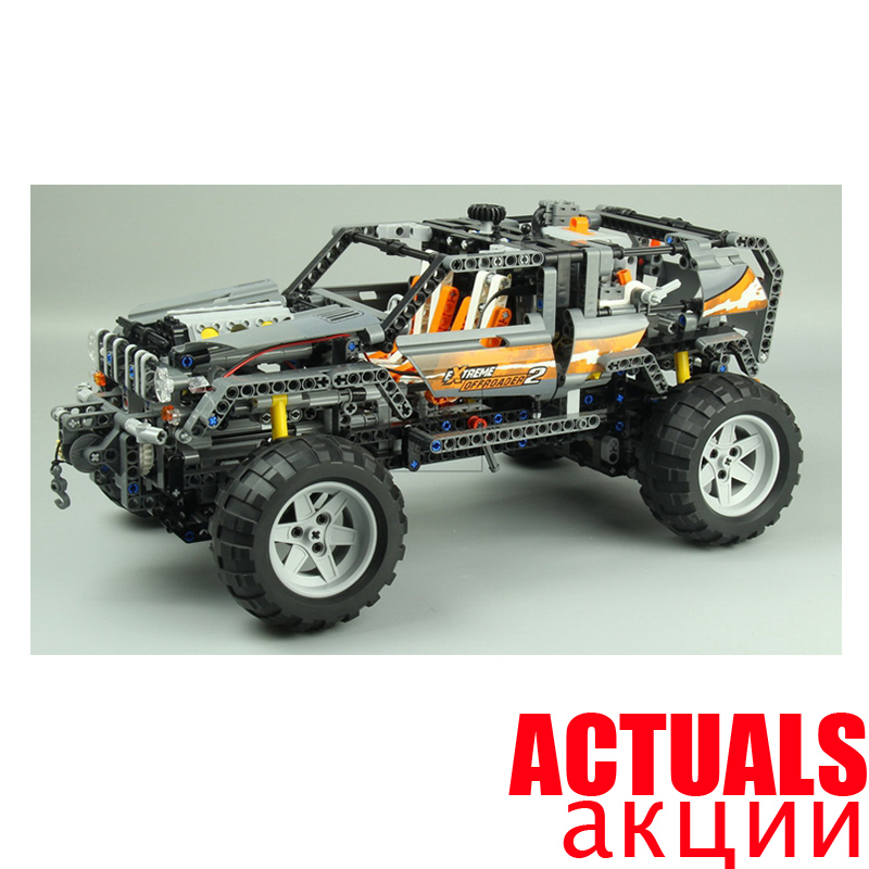 Lepin Technic Off Roader ELECTRIC Power Functions 20030 1132Pcs Model Building Blocks Bricks Toys for Children Compatible 8297 lepin 20030 1132pcs technik ultimate off roader cars legoingly 8297 sets building nano block bricks toys for boy gifts