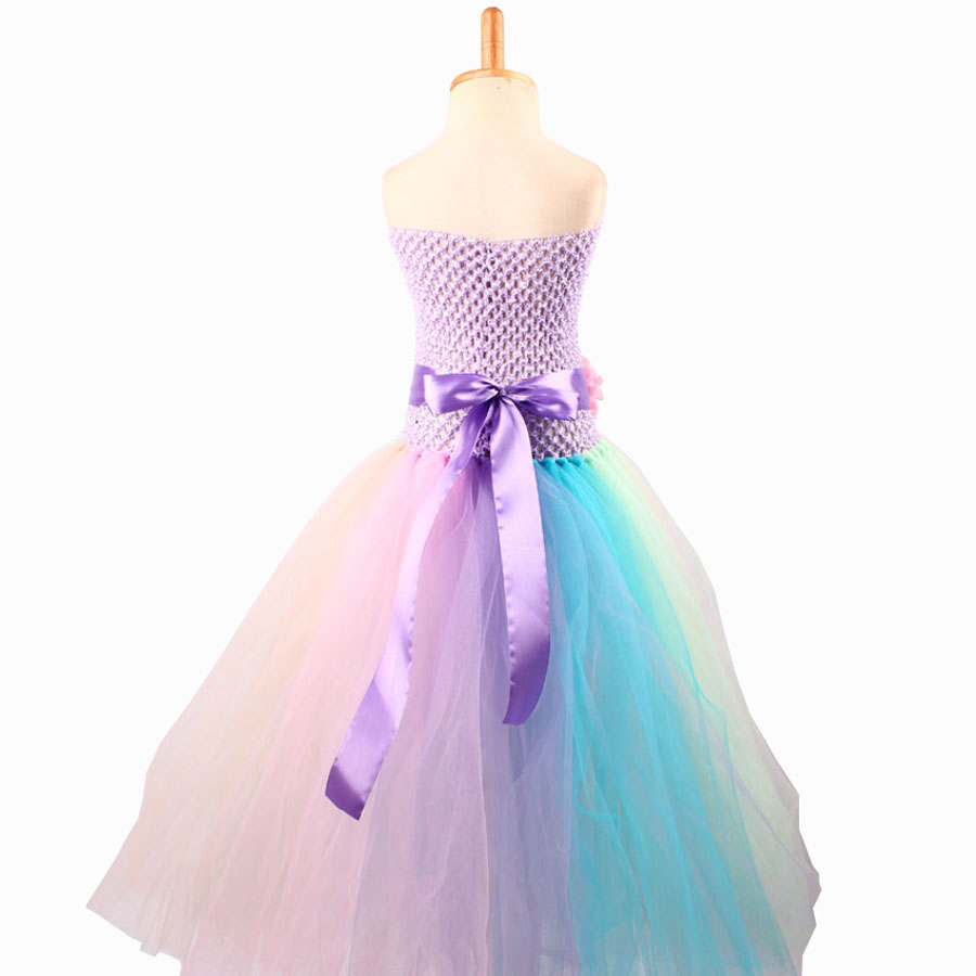 Baby Girl Flower Pony Unicorn Tutu Dress Extra Fluffy Kids Fairy Wedding Birthday Party Dresses with Hair Hoop for Cosplay (6)