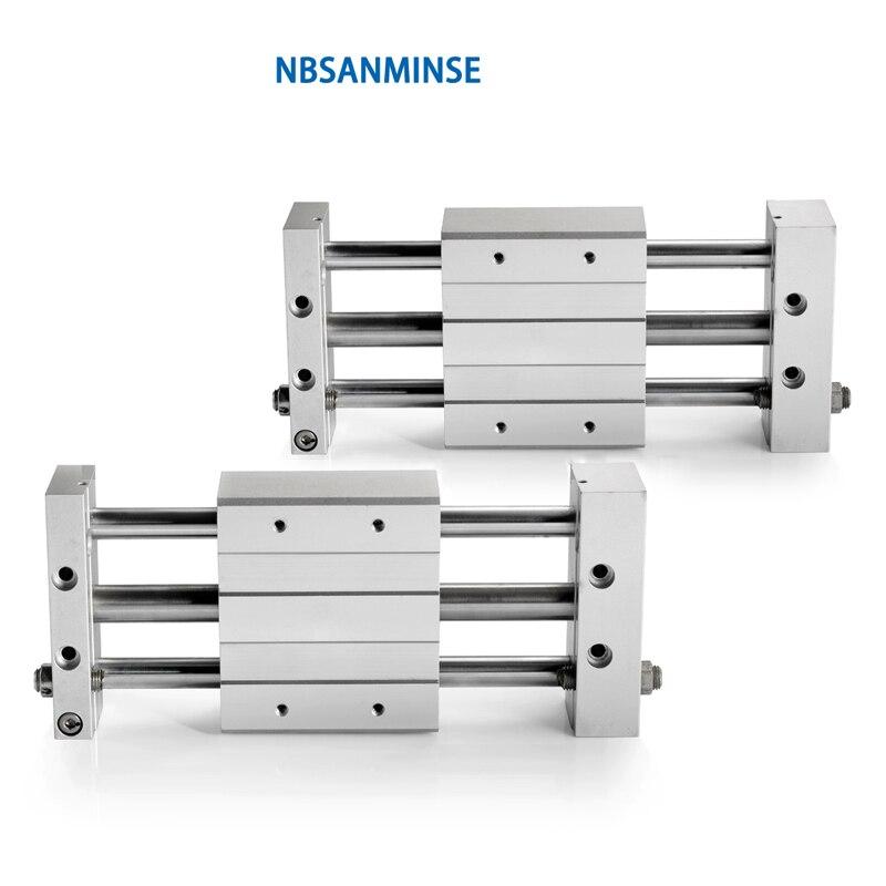 NBSANMINSE CY1L 10 15 20 25 32 40 couplage magnétique sans cylindre glissière Type SMC vérin pneumatique roulement à billes