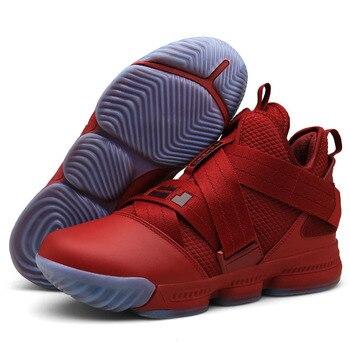 talla 40 b6eba 0c819 ZHJLUT Venta caliente zapatos de baloncesto Lebron James alto botas de  entrenamiento de gimnasio botas de tobillo al aire libre hombres zapatillas  ...