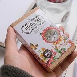 Кошка дядя коробку стикеры закладки для книг Набор наклеек 70 + закладки 20 карты 10 школьные принадлежности милые офисные принадлежности