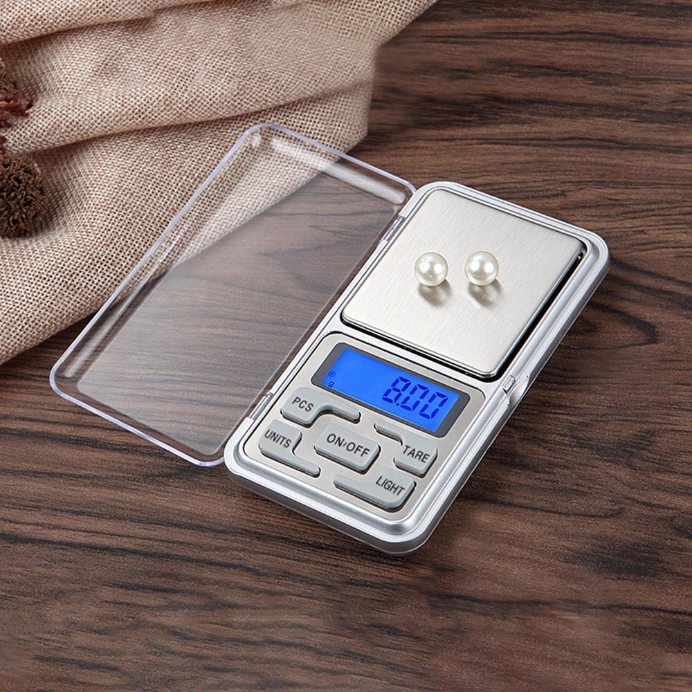 Высокоточные весы для золота, ювелирных изделий, 0,1 г, 200 г, 0/300/500/г, мини карманные весы, пищевые весы для кухни