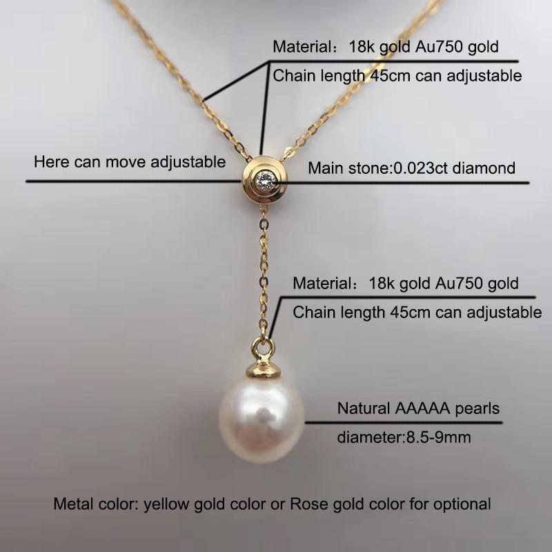 Sinya 18 Karat Au750 Gold Halskette Inlay 0,023 Karat echten - Edlen Schmuck - Foto 5
