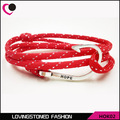 Miansai Hope Men's Fish Hook Bracelet ,35 Colors Rope Wrap Anti-silver Hope Hook Bracelets On Sale-HOK02