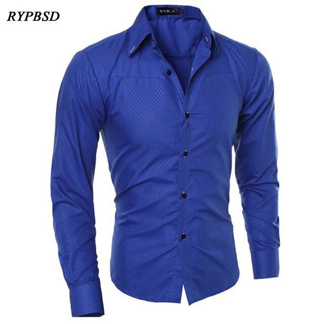 16b202c44cc 2019 Classic Men Plaid Shirt Long Sleeve Business Casual Slim Fit White Mens  Dress Shirts camisa xadrez masculina Plus Size 5XL