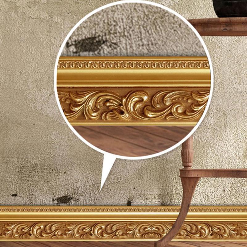 10 см x 5 м Европейский стиль 3D настенные наклейки роскошный кирпичное здание Плинтус Линии Съемный Гостиная Спальня Декор окна V3