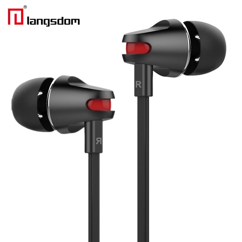 New Arrival Langsdom 3.5mm Stereo Earphone Headphone Super Bass Headset with Mic for Mobile Phone iphone xiaomi