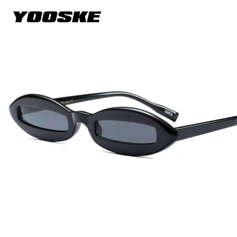 Yooske 2018 Небольшой Овальный Кошачий глаз Солнцезащитные очки для женщин Для женщин ретро прямоугольник розовый леопард черный Винтаж красный Защита от солнца Очки для Для женщин UV400