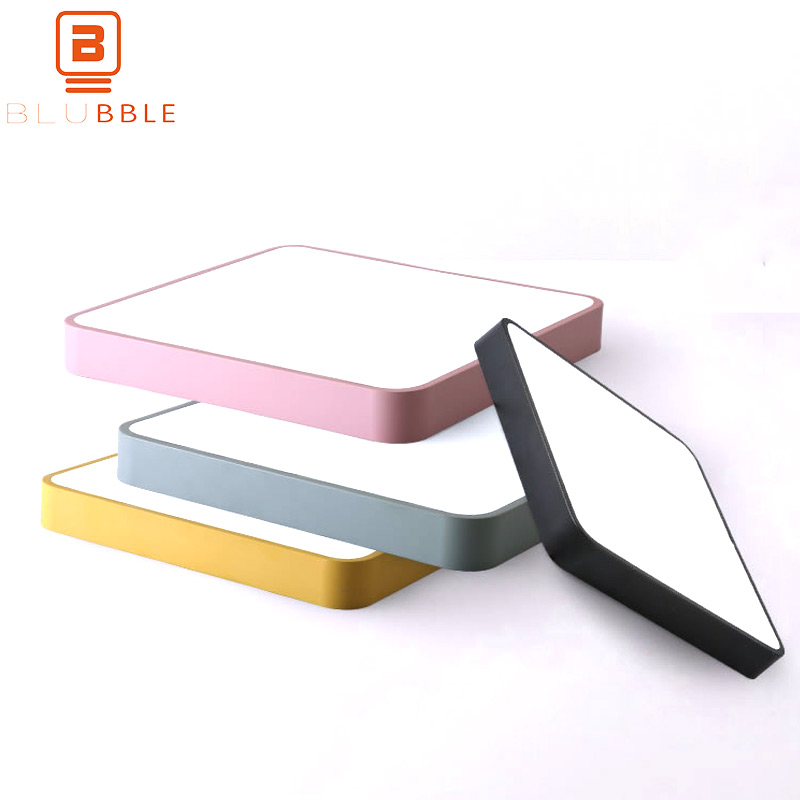 BLUBBLE Macaroon Square Ceiling Lamp AC 110 240V Dormitory LED Lampara Techo Home Lighting Surface Mounted Remote Ceiling Lights|Ceiling Lights| |  - title=