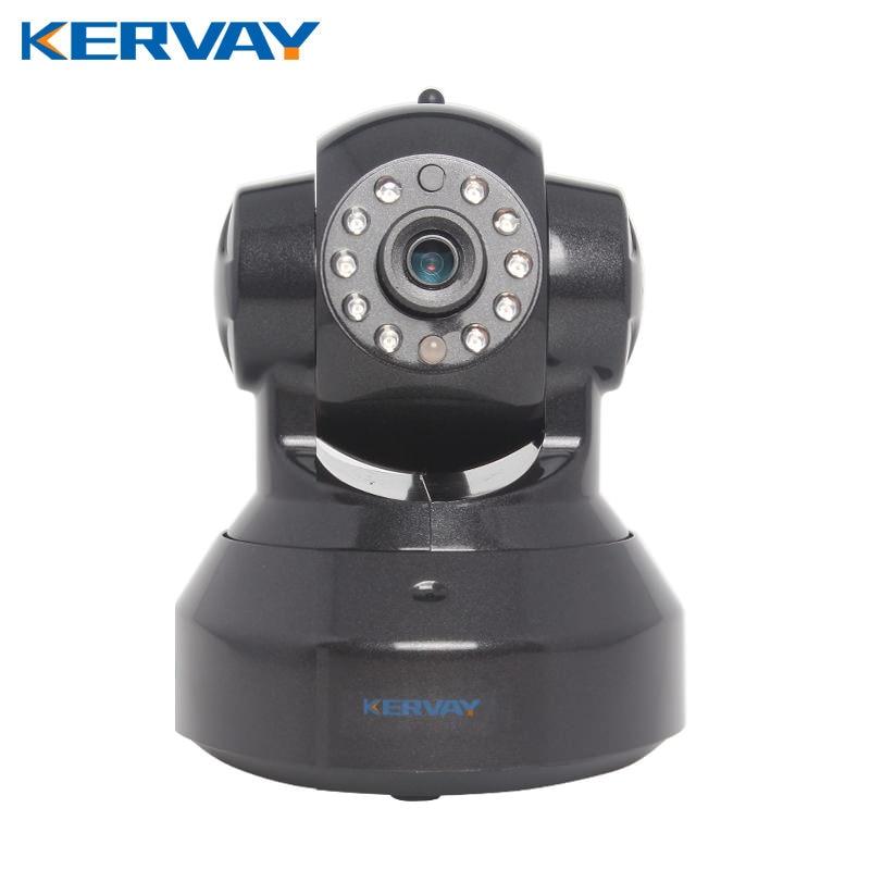 Kervay C7837WIP Black IP CCTV 720P Camera IR Cut Night Vision Audio Surveillance LAN WiFi Security