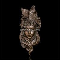 ATLIE Классическая Статуэтка бронза рельефная скульптура маска павлина работа домашний декор в стиле ретро из металла абстрактного искусств