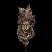 100% Handmade Classical  Bronze Relief sculpture Cast Artwork home decor metal wall art